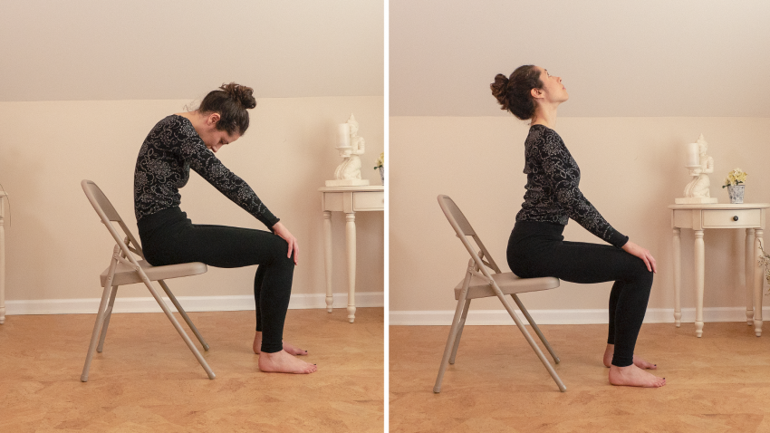 Chair Yoga sequence designed to help people suffering with arthritis
